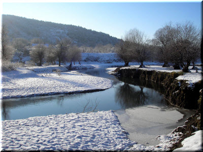 фото реки Салгир зимой