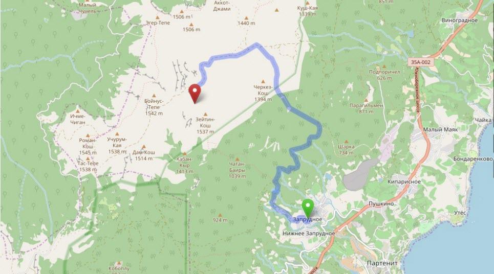 маршрут на Бабуган-яйлу