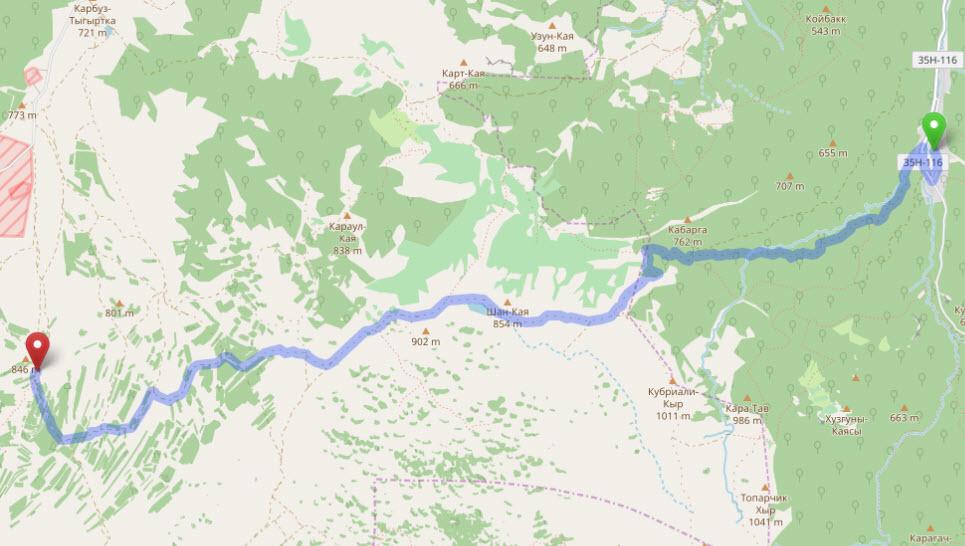 маршрут от Красноселовки