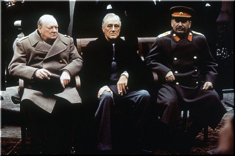 фото Рузвельта, Сталина и Черчилля
