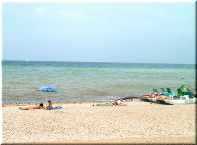 пляж гостевого дома Альбатрос