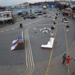 фото с веб-камеры у площади 300-летия российского флота