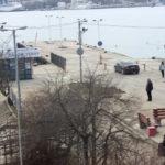 фото с камеры у пирса Захарова в Севастополе