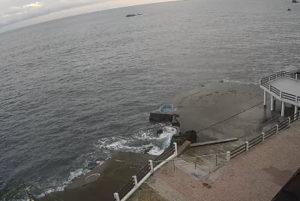 фото с камеры у пляжа отеля Аркадия в Утесе