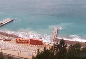 фото с камеры у пляжа отеля Мрия