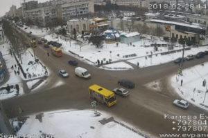 фото с камеры у проспекта Победы в Евпатории