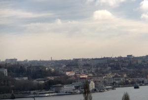 фото с камеры у Севастопольской бухты