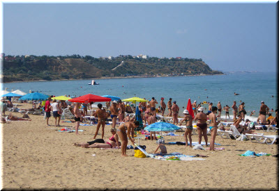 фото с пляжа в Учкуевке