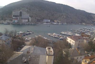 фото с веб-камеры у отеля Куприн в Балаклаве