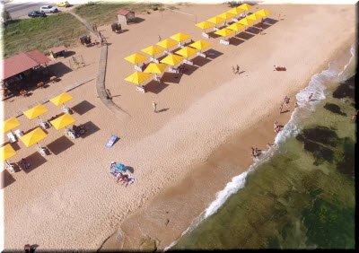 фото Золотого пляжа с высоты