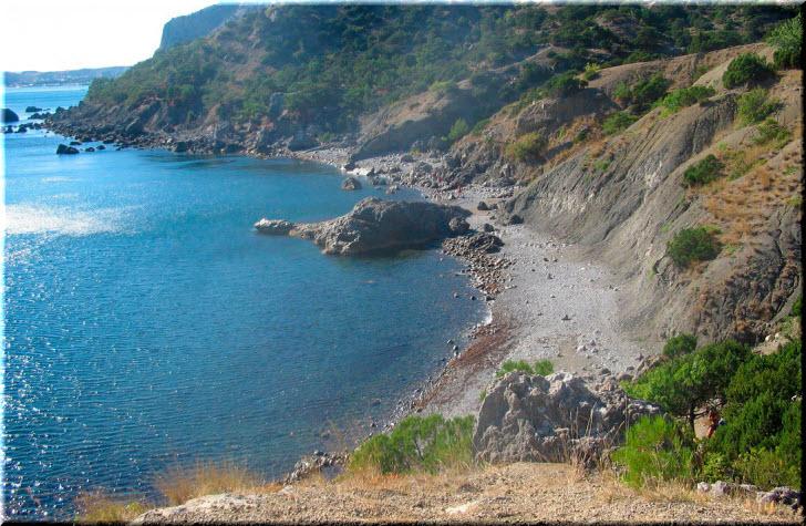 пляж в Черепашьей бухте
