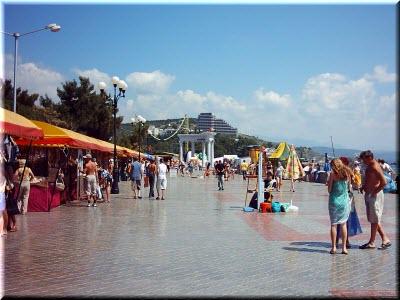 фото с Алуштинской набережной