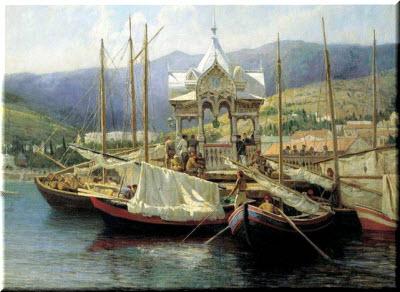 лодки в старом Крыму