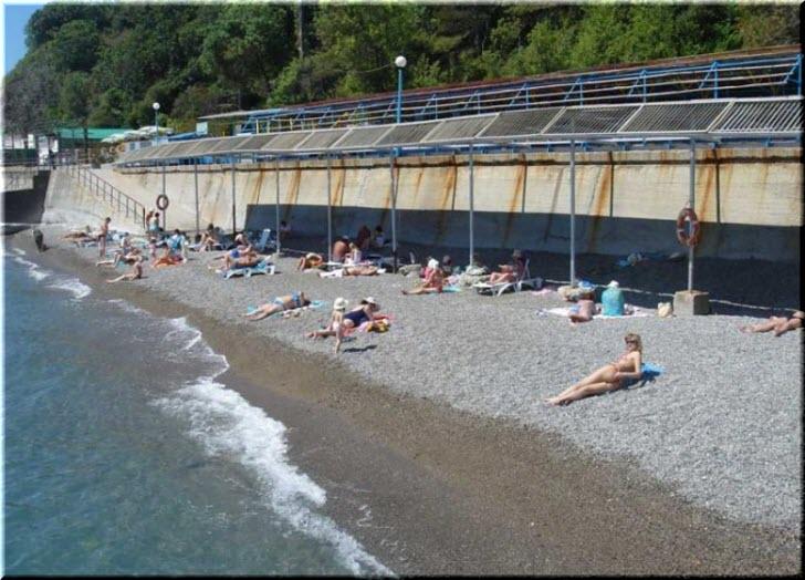 пляж санатория Ливадия