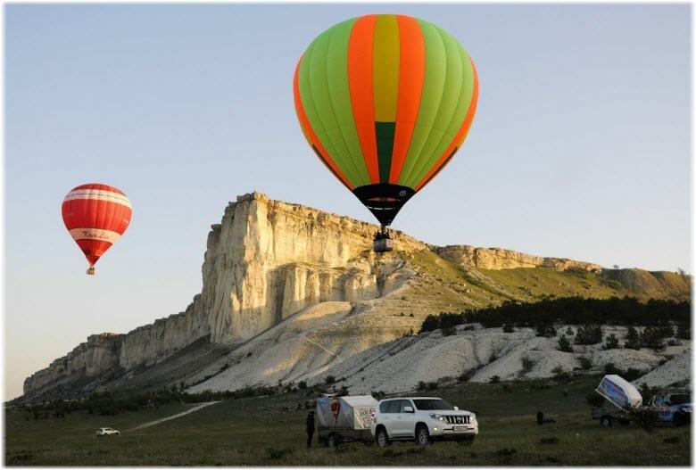 полет воздушных шарах в Крыму