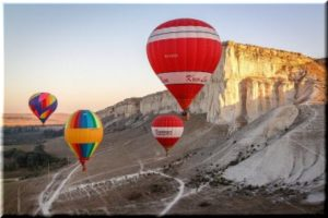 полет на воздушном шаре в Крыму