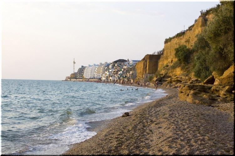 Центральный пляж Качи