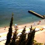 Веб-камера на пляже эллинга «Дельфин» в Алуште