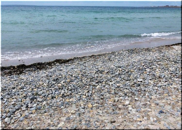 Галечный пляж Межводного