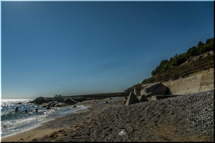 Нудистский пляж в Кацивели