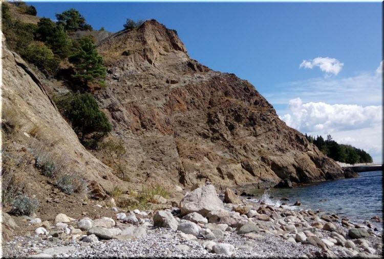 пляж на мысе Гусиный
