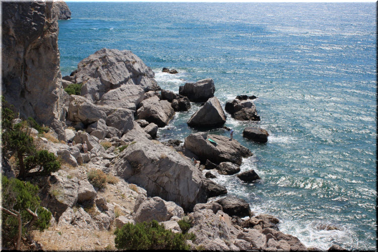 дикий пляж Симеиза