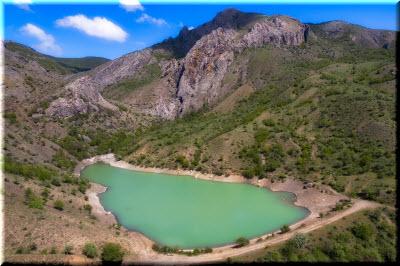 фото озера Панагия с высоты