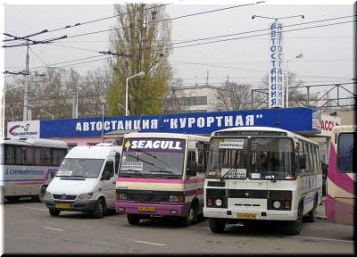 автобусы у Курортной автостанции