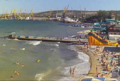 фото с камеры у Морского порта Феодосии