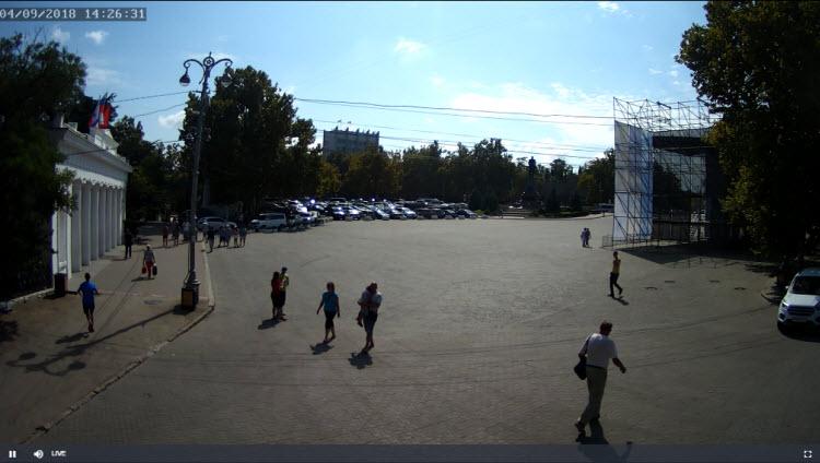 фото с камеры у Графской пристани