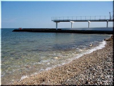 галька на пляже Парк Победы