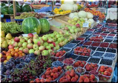 овощи на Центральном рынке Ялты