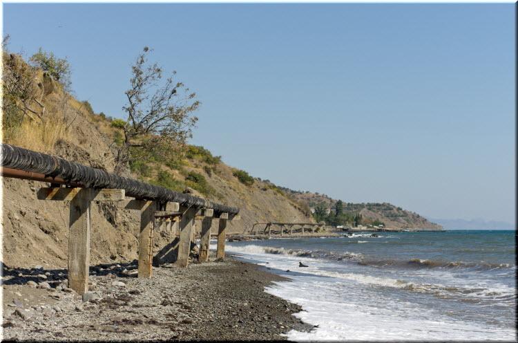 дикий пляж У метеорологичекого полигона