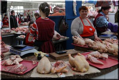 мясной отдел на Центральном рынке