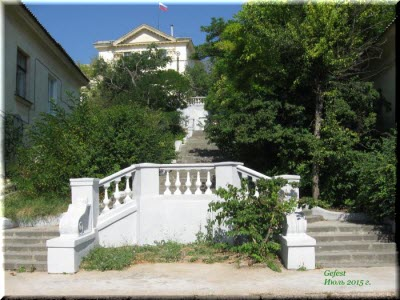 верхний участок Таврической лестницы