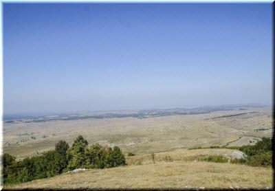 вид на нижнее плато Караби