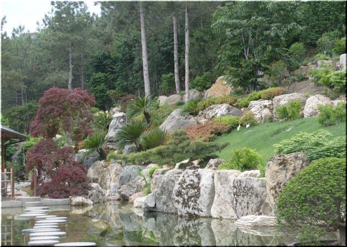 Японский сад в Партените
