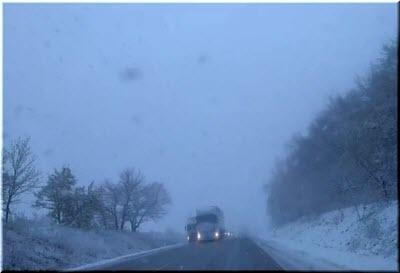 зима на Грушевском перевале