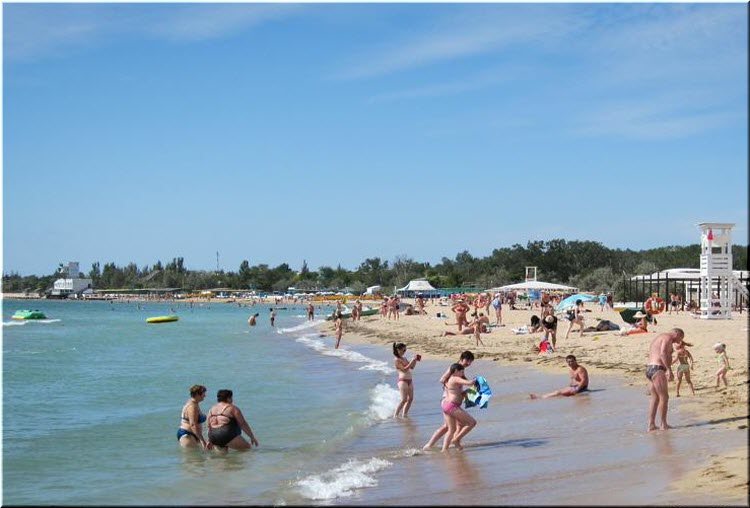 на пляже Робинзон