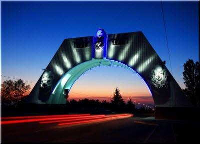 подсветка арки ночью