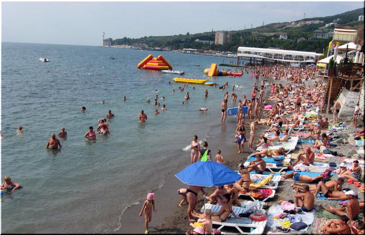 фото пляжей Гурзуфа