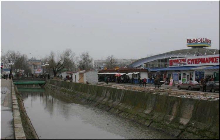 фото реки у рынка