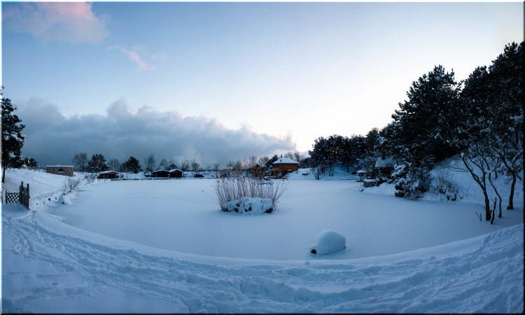 Васильевское озеро зимой
