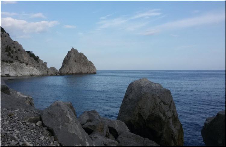 фото пляжа Голубые камни