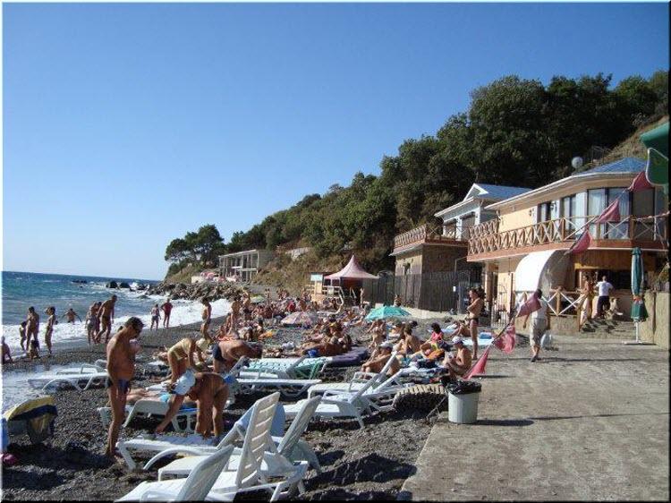 фото пляжа отеля Зеленый мыс