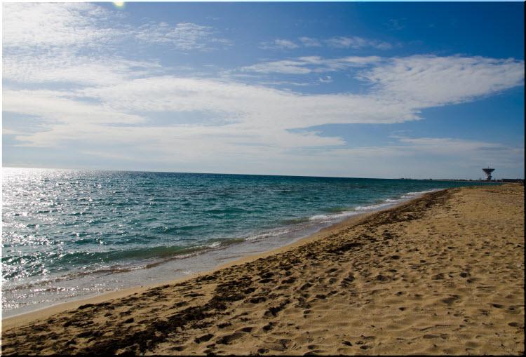 фото пляжа в Молочном