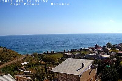 фото с камеры отеля Алые паруса в Морском