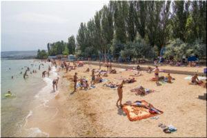 пляж Динамо в Феодосии