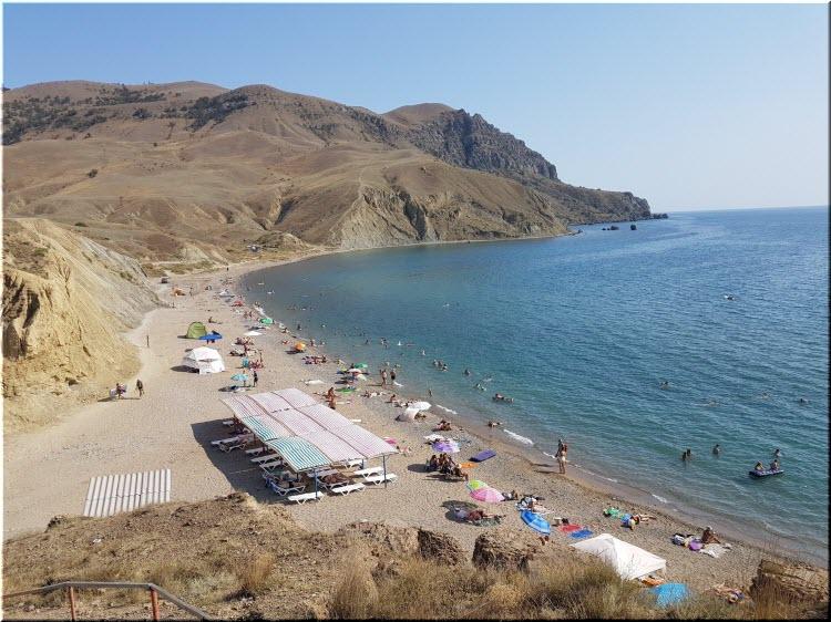 пляж Меганом в Судаке