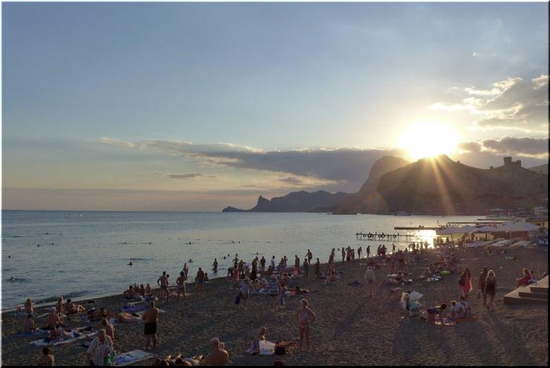 закат на Центральном пляже